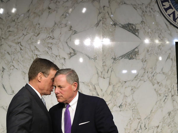 The Senate intelligence committee, led by chairman Richard Burr (right) and vice chairman Mark Warner, endorsed with their colleagues the findings of the U.S. intelligence community.