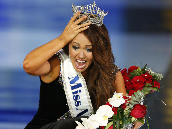 Miss North Dakota Cara Mund reacts after being named Miss America in September. For the first time in the pageant's history the two branches of the organization will be lead entirely by women, the group announced Thursday.