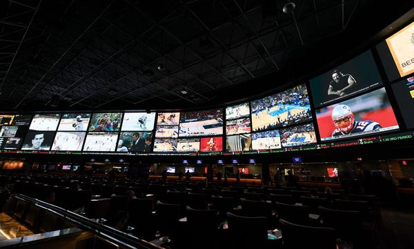 The Race & Sports SuperBook at the Westgate Las Vegas Resort & Casino before 400 proposition bets for Super Bowl LI between the Atlanta Falcons and the New England Patriots were posted on Jan. 26, 2017 in Las Vegas. (Ethan Miller/Getty Images)