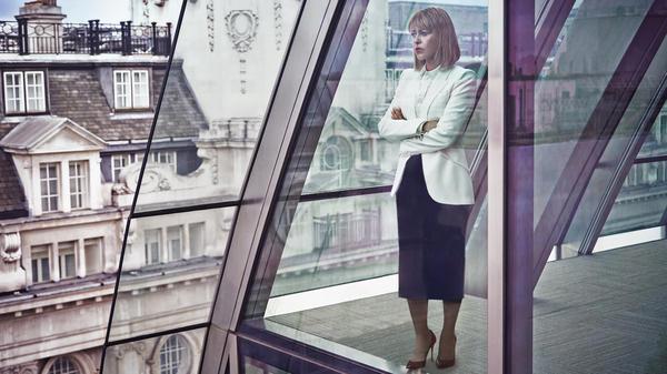 Nicola Walker plays Hannah Stern, a high-billing divorce lawyer, on the British series, <em>The Split.</em>