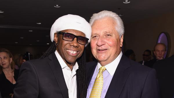 Sony/ATV chairman and CEO Martin Bandier, right, with songwriter, guitarist and producer Nile Rodgers on June 9, 2016 in New York.