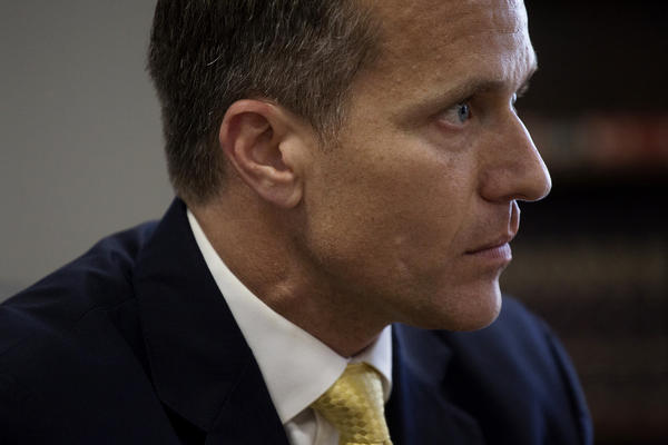 The woman with whom Missouri Gov. Eric Greitens had an affair in 2015 spoke pubicly for the first time on Monday night.