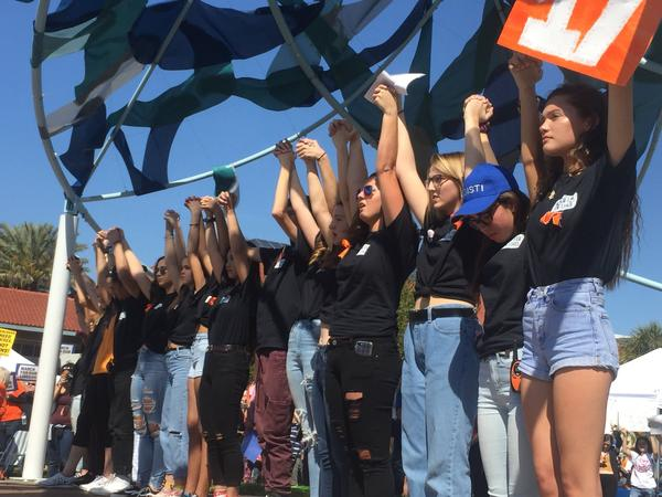 Thirty five students from Pinellas County schools organized the March For Our Lives rally in St. Petersburg on Saturday.