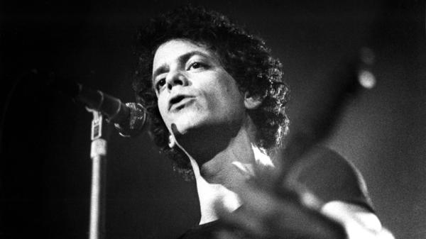 Lou Reed onstage in Amsterdam in 1975.