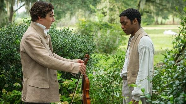 Benedict Cumberbatch (left) as Ford and Chiwetel Ejiofor as Solomon Northup in <em>12 Years a Slave</em>.