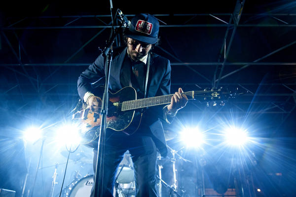 Shakey Graves performs at the Americana Music Association Showcase at Gatsby's during SXSW 2014 in Austin, TX.