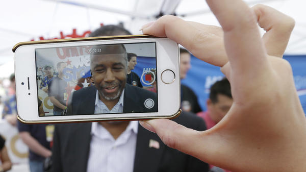 Republican presidential candidate Ben Carson's campaign has been a fast-adopter of targeting people on Facebook. He has more than 4 million likes on the social media site, more than any other candidate.