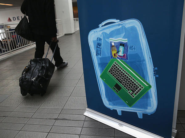 New U.S. regulations aimed at travelers coming from eight majority-Muslim countries on non-U.S. airline carriers stipulate that laptops and electronic devices must be put into checked luggage.