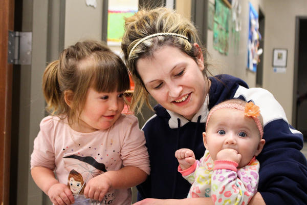 """""""I'm not just a drug addict,"""" says Amanda Williamee. Her desire to be a great mom to daughters Taycee (left) and Jayde (right) has motivated her to get into treatment, and pick up the psychological tools she'll need to stay clean."""