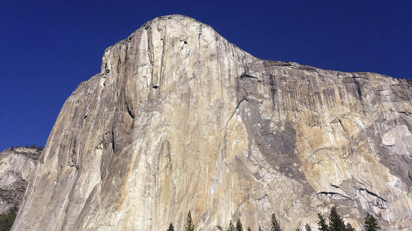 El Capitan in Yosemite National Park in California in 2015. Two experienced climbers died after falling Saturday.