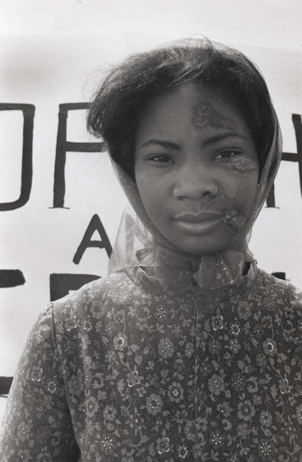 Lydia McKinnon, a schoolteacher, was attacked by police who used rifle butts to break up a protest over the arrest of Willie Bolden, a Southern Christian Leadership Conference organizer and the Mule Train wagon master.