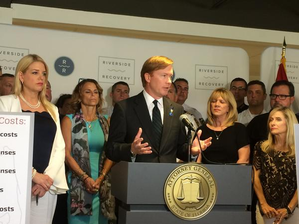 Adam Putnam at a news conference on May 17th. On Thursday, the Republican gubernatorial candidate announced his campaign plans for public safety with a focus on fighting crime and combatting the opioid epidemic.