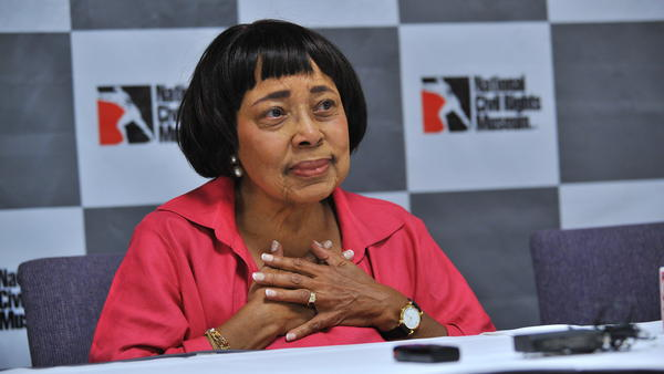 Dorothy Cotton, pictured at a press conference at the National Civil Rights Museum in Memphis, Tenn., was the educational director for the Southern Christian Leadership Conference in the civil rights era. She has died at 88.