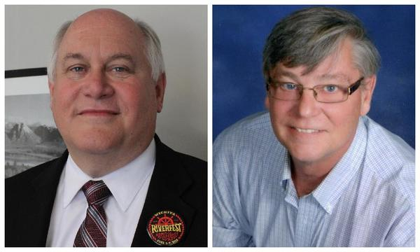 """U.S. Rep. Ron Estes, left, will be identifed with a """"Rep."""" before his name on primary ballots against the other Ron Estes he faces in the race."""