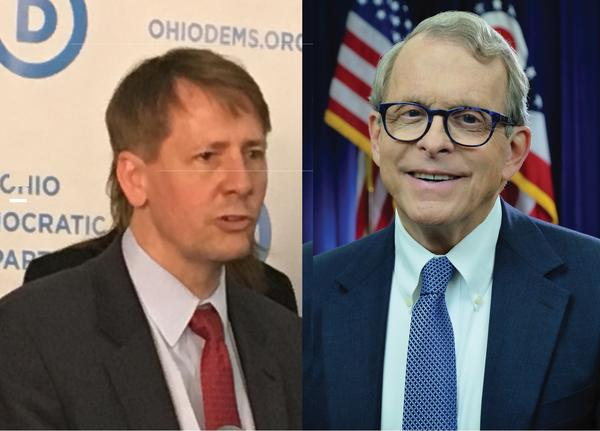 Richard Cordray (L) and Mike DeWine (R)