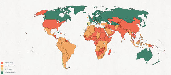 Map of paternity leave.