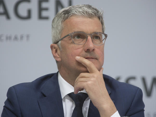 Audi's chief executive, Rupert Stadler, pictured at the Annual Media Conference of Volkswagen AG last month, was arrested Monday.