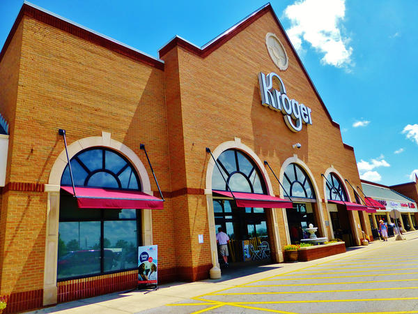 A Kroger store in Westerville, OH. Oxfam says the Cincinnati-based chain is the worst-scoring supermarket group in its scorecard assessing transparency, workers' rights, gender equity and small scale producers.