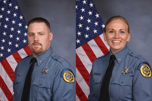 Wyandotte County Sheriff's Deputies Patrick Rohrer, 35, and Theresa King, 44, died from gunshot wounds after a shooting Friday morning outside the county courthouse annex.