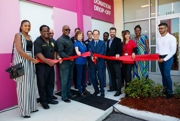 AIDS Healthcare Foundation President Michael Weinstein joins local community leaders to cut the ribbon officially opening the AIDS Healthcare Foundation clinic opening on Monday, June 25, 2018 in St. Petersburg, FL.