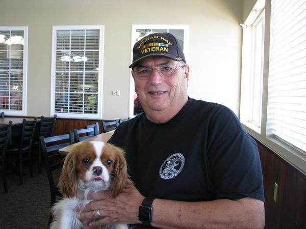 Vietnam War Veteran, Bill, and his Dog, Bella