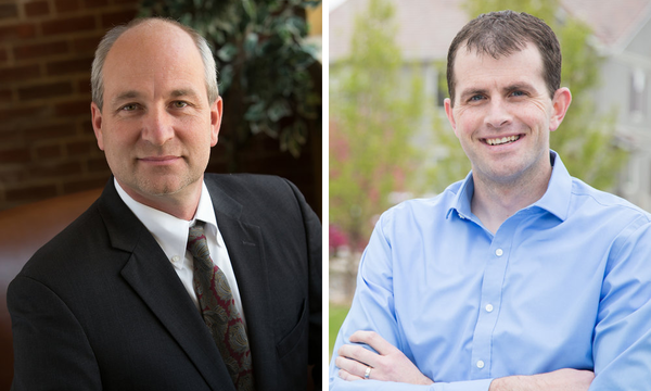 Rep. Steve Lebsock (left) is the focus of numerous reports of sexual harassment. Rep. Matt Gray (right) plans to introduce legislation to remove him from office.