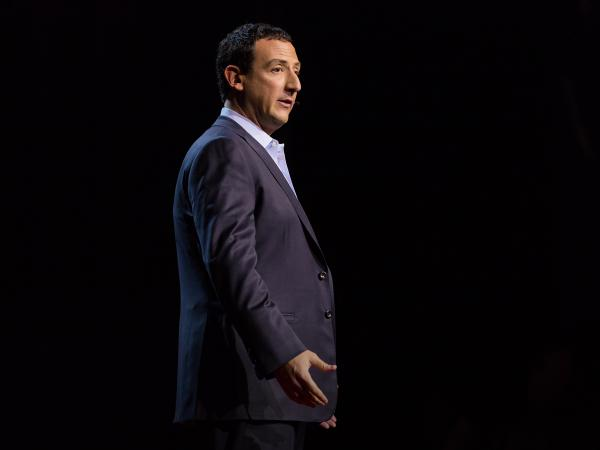 Isaac Lidsky talks about losing his sight on the TED Stage.