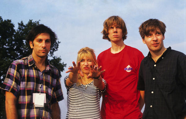 Kim Gordon (second from left) with the other members of Sonic Youth in 1991. A cornerstone of early indie rock, Gordon both explored and coped with the dominant male energy in her band.
