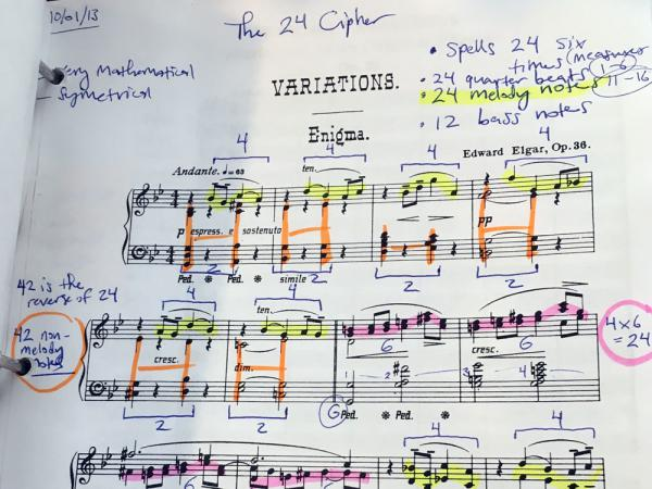 Bob Padgett's notes on Elgar's <em>Enigma Variations </em>. The Texas musician continues to search for hidden clues in the British composer's famous piece.
