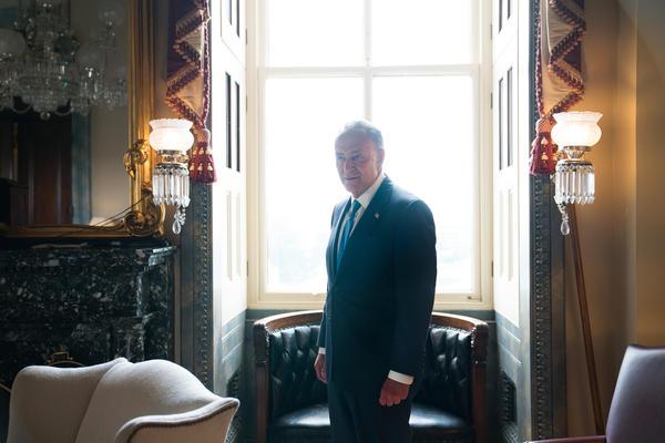 Senate Minority Leader Chuck Schumer, D-N.Y. in his office.