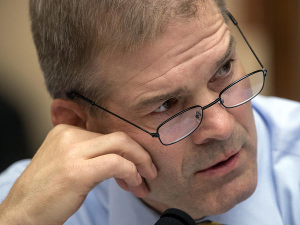 Rep. Jim Jordan, R-Ohio, pictured at a House Judiciary Committee meeting, denies allegations that he knew about and failed to report claims of sexual abuse at Ohio State University.