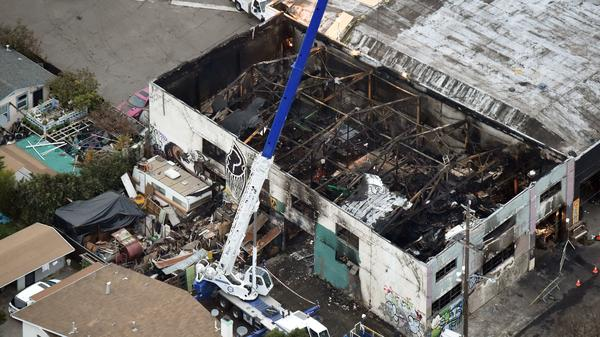 Two men pleaded no contest Tuesday to 36 counts of involuntary manslaughter in the 2016 Ghost Ship warehouse fire in Oakland, Calif.