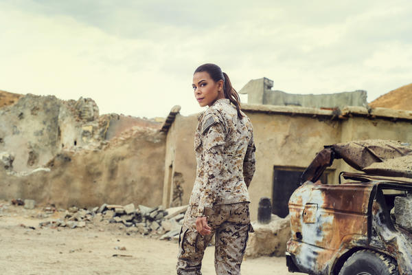 Actress Toni Trucks in SEAL Team on CBS.