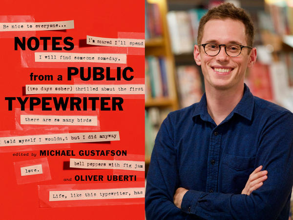 "Michael Gustafson, co-owner of Literati in Ann Arbor, is one of the editors of ""Notes from a Public Typewriter."""