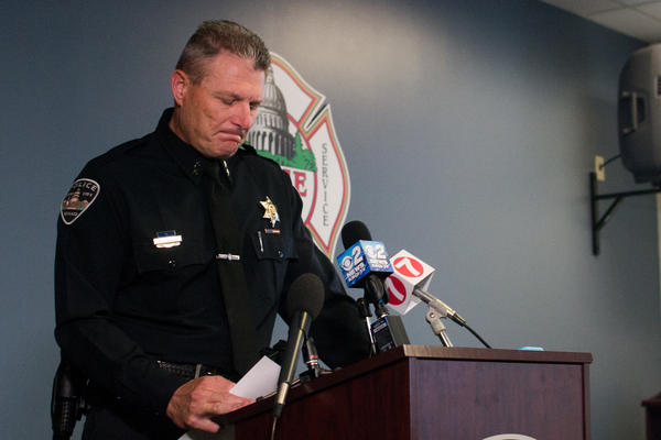 A visually emotional Boise Police Chief Bill Bones delivered updates on the attack at a news conference Sunday afternoon.