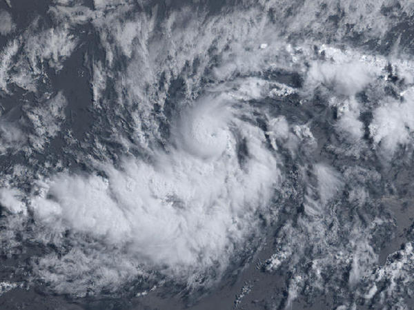 A satellite view of Hurricane Beryl from July 6, 2018.