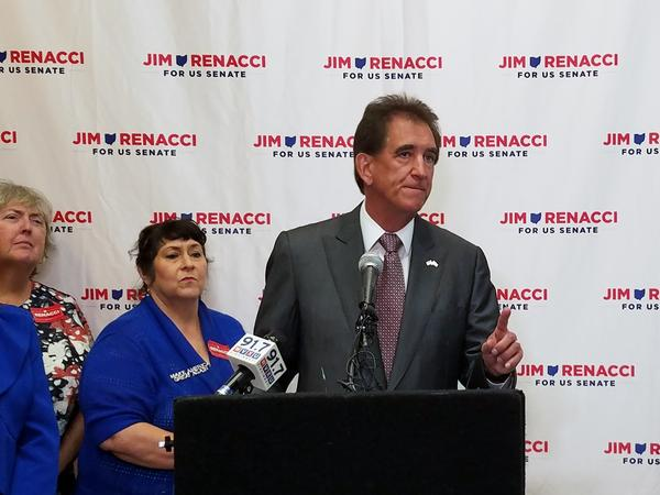 GOP Senate candidate Jim Renacci spoke to a crowd of about 50 Tuesday morning at the Hilton Netherland Hotel in downtown Cincinnati.