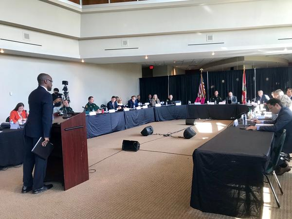The Marjory Stoneman Douglas High School Public Safety Commission is discussing Broward County's 911 system on the second day of a three-day information meeting.