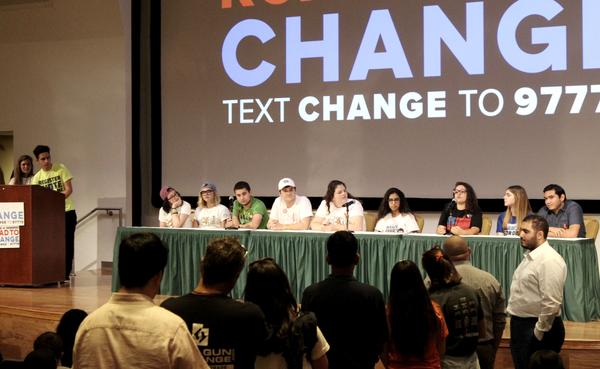 Local March For Our Lives organizers joined students from Marjory Stoneman Douglas High School to discuss voter registration and gun violence at a town hall in Tampa Saturday night.