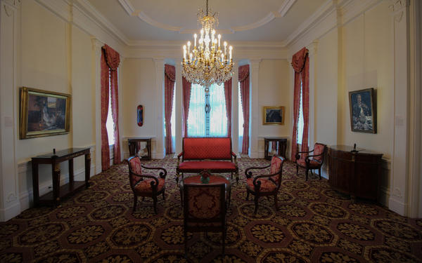 One of numerous parlors in the Governor's Mansion.