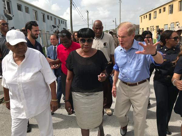 Nelson toured the Liberty Square public housing complex with Miami mayor Francis Suarez and other city leaders.