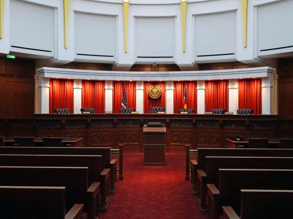 Colorado State Supreme Court bench.