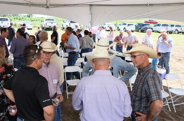 Kansas beef-industry leaders gathered in Ellinwood, Kansas, in late June for the announcement about Cattle Trace.