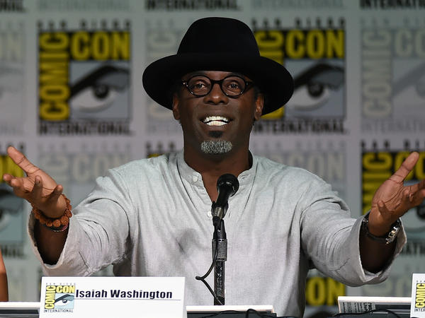 Actor Isaiah Washington at a panel for <em>The 100</em> back in 2015 — this year he announced a new comic project, called <em>Bison.</em>