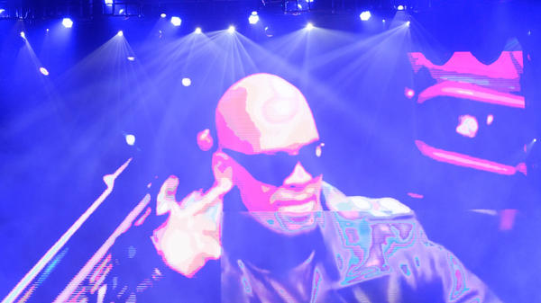 A projection of R. Kelly at Allstate Arena in May 2016 in Chicago.
