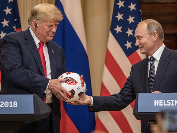 President Trump now says he worries Russian President Vladimir Putin is interfering with U.S. democracy — in order to help Democrats this fall.