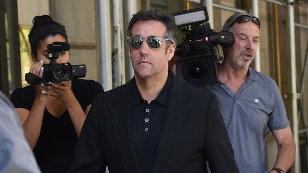 President Trump's former lawyer Michael Cohen, seen in June,  released a tape of what seems to be then-candidate Trump and him discussing payments to a former Playboy model.