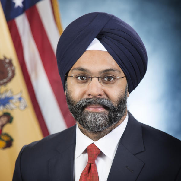 New Jersey's Attorney General Gurbir S. Grewal in an official photo taken in Trenton, N.J., in January.