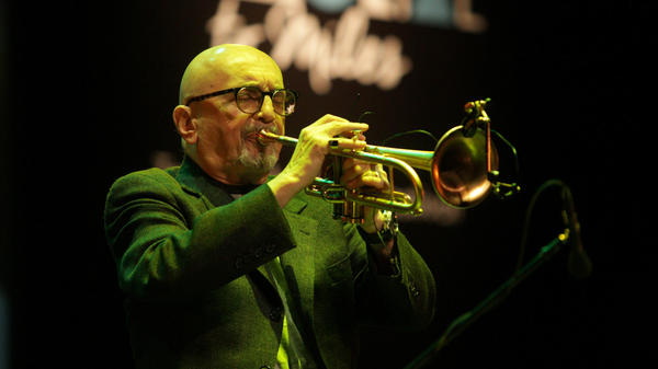 Polish jazz trumpet player and composer Tomasz Stanko, performing in Kielce, Poland in 2016. Stanko died Sunday at age 76.