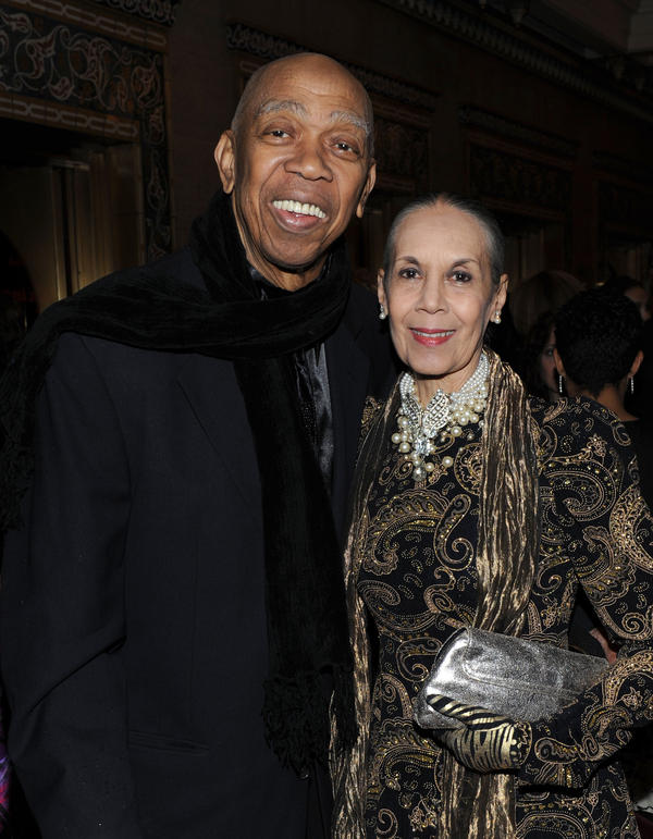 Geoffrey Holder and Carmen de Lavallade attend the Alvin Ailey Opening Night Gala Performance at the New York City Center in December 2009. They were married for 59 years before Holder's death this year.